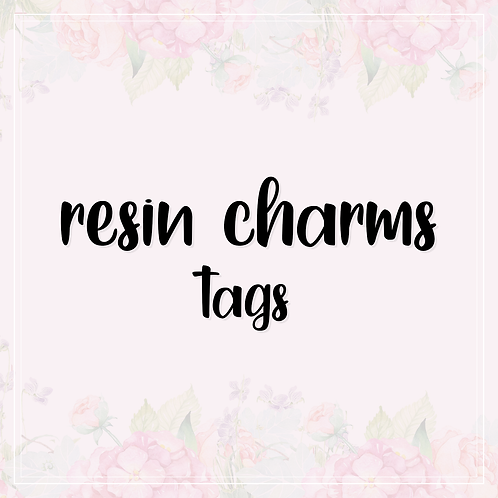 resin charms   tags
