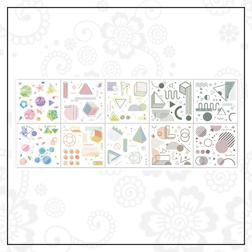 geometric sticker set