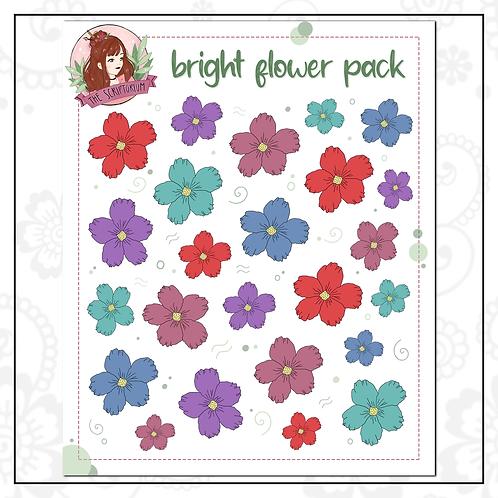 flower sticker pack | bright