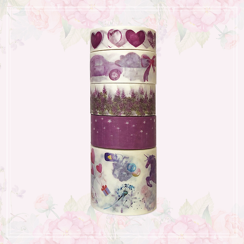 purple washi tape set | style 3