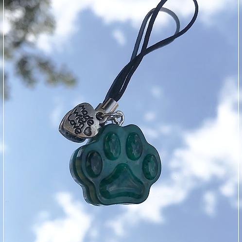 resin charm | green paw