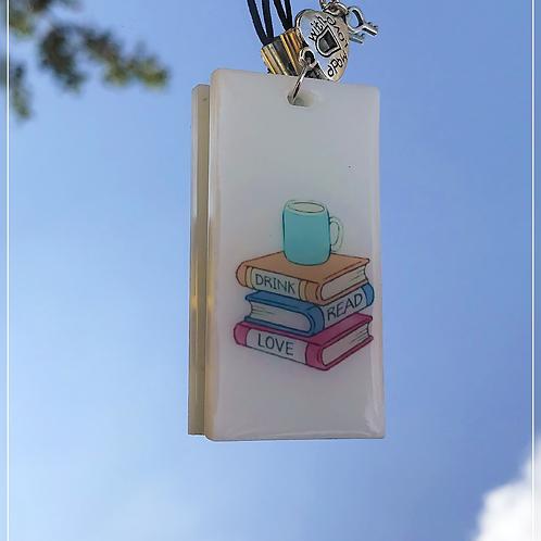 resin charm | bookish tag