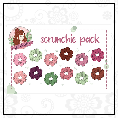 scrunchie sticker pack