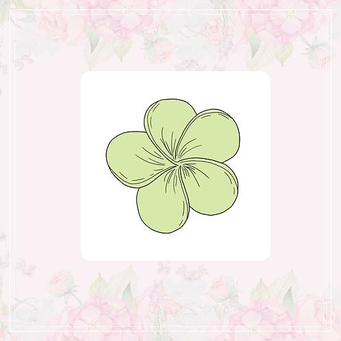 single vinyl sticker | green flowers