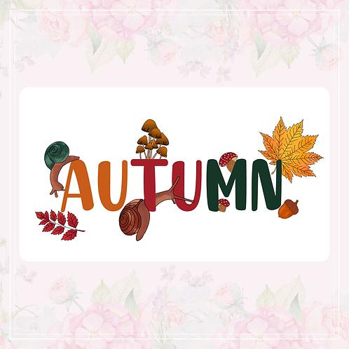 single vinyl stickers   autumn pack #1