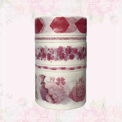 5pc washi tape set | pink
