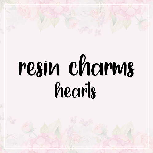 resin charms | hearts