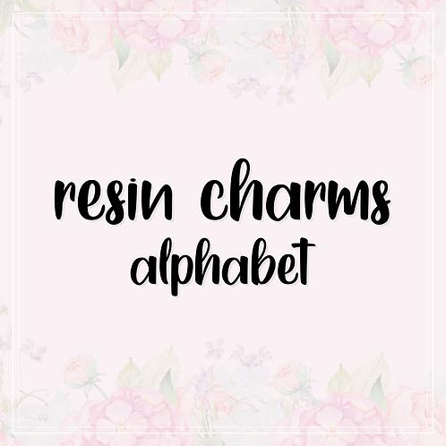 resin charms   alphabet
