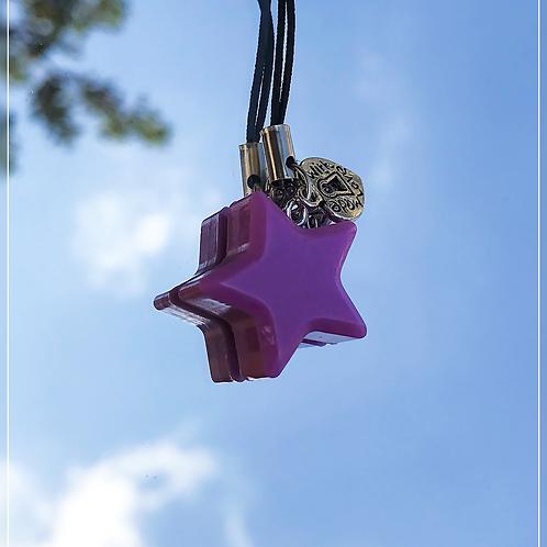 resin charm | purple star