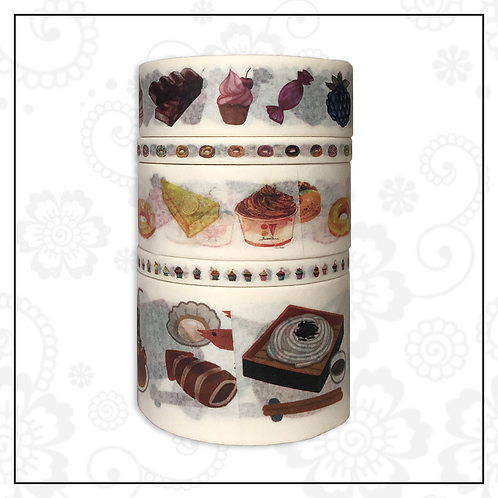 5pc washi tape set | food