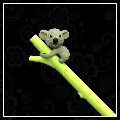 koala gel pen | light grey