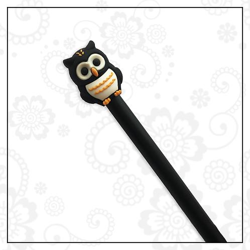 owl gel pen | black
