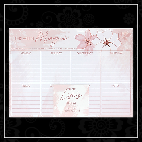 cherry blossom weekly planner