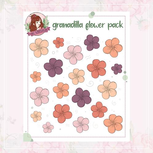 flower sticker pack | granadilla