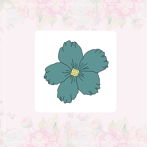 single vinyl sticker | dusty flowers