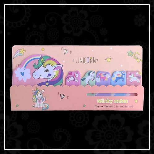 unicorn sticky note set | peach