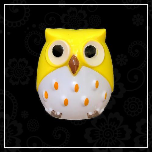 owl sharpener | yellow