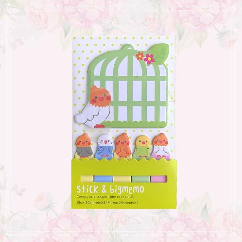 sticky note set | bird