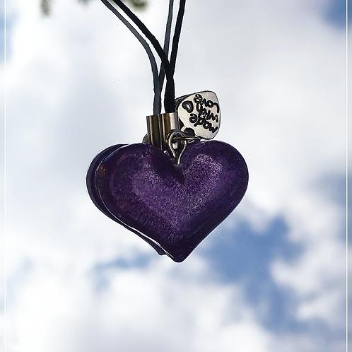 resin charm | dark purple