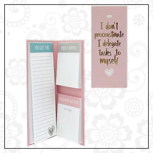 notepad set | pink