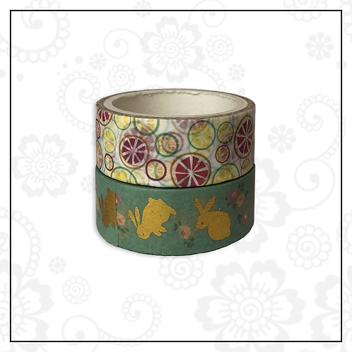 foil washi tape pair | style 8
