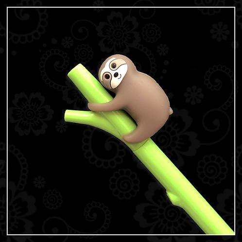 sloth gel pen   brown