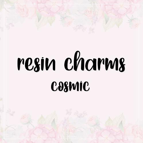 resin charms | cosmic