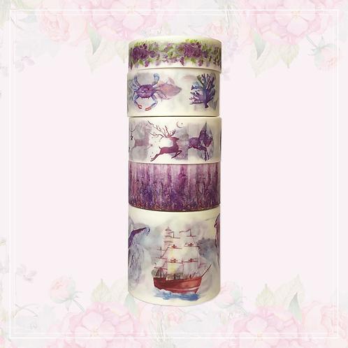 purple washi tape set | style 1