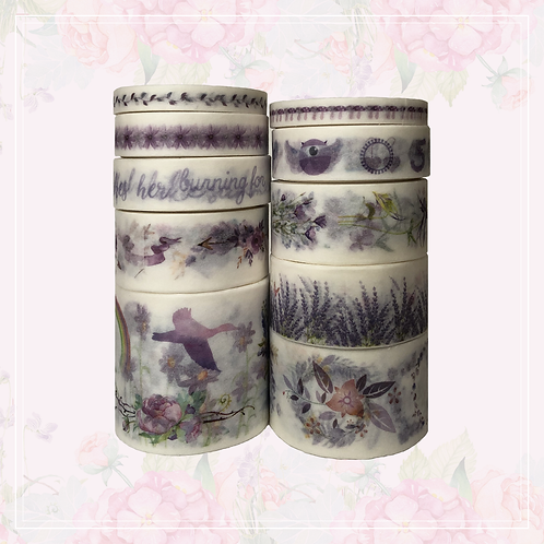 10pc washi tape set | purple