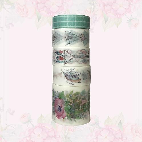 green washi tape set | style 1