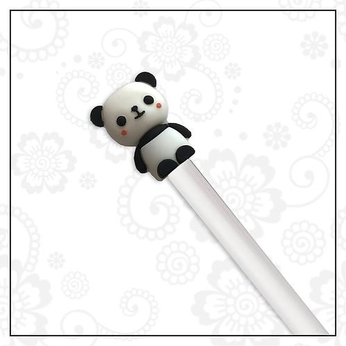 panda gel pen   white