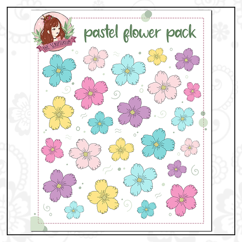 flower sticker pack | pastel