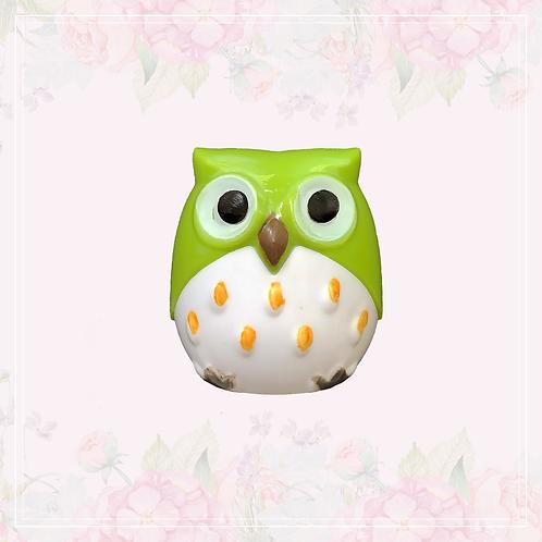 owl sharpener   green