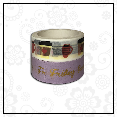 foil washi tape pair   style 9
