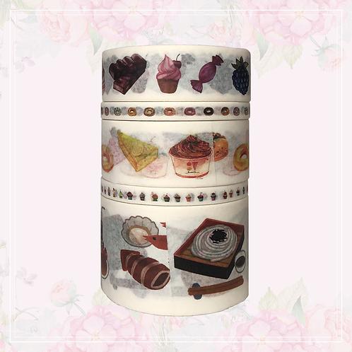5pc washi tape set   food