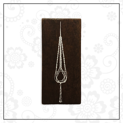wooden stamp | hanging deco
