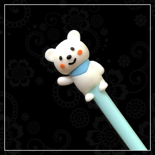 bear gel pen | blue