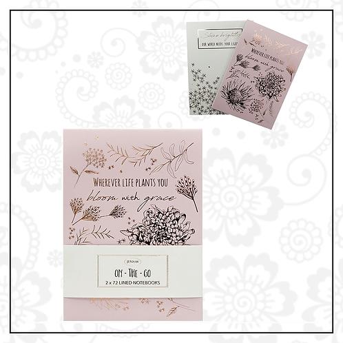 mini notepad set   pink
