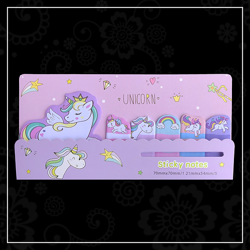 unicorn sticky note set | purple