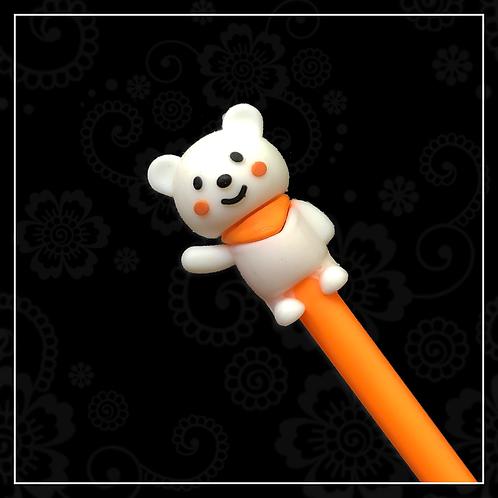 bear gel pen | orange