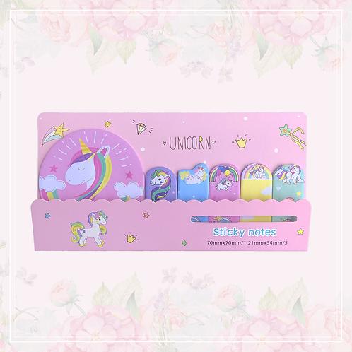 unicorn sticky note set | pink
