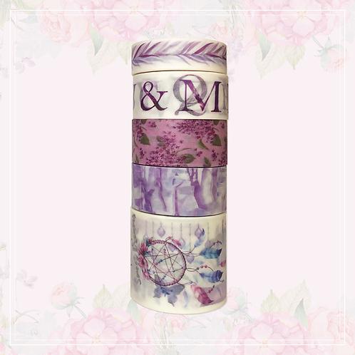 purple washi tape set | style 2