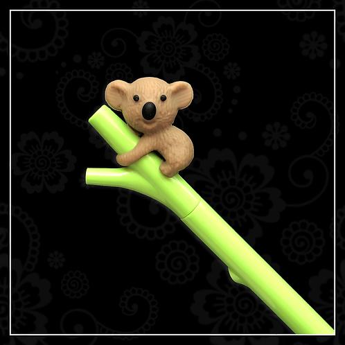 koala gel pen   brown