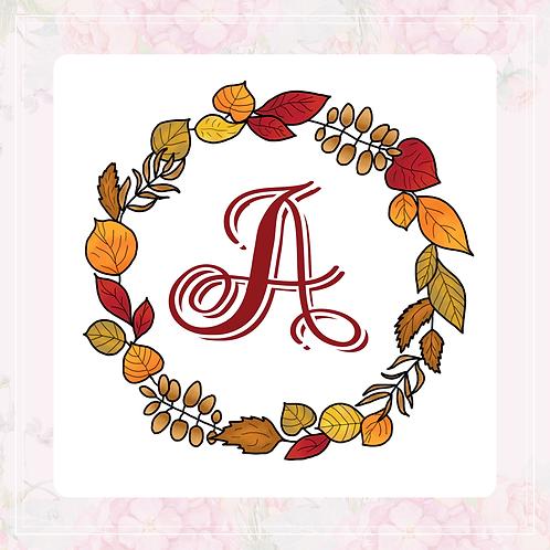 single vinyl stickers | autumn wreath