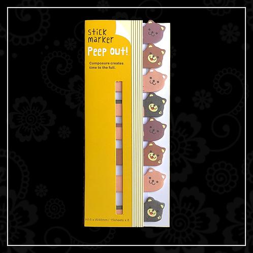 sticky tabs | bear
