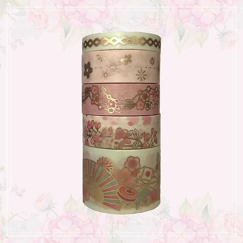 pastel & foil washi tape set | light pink