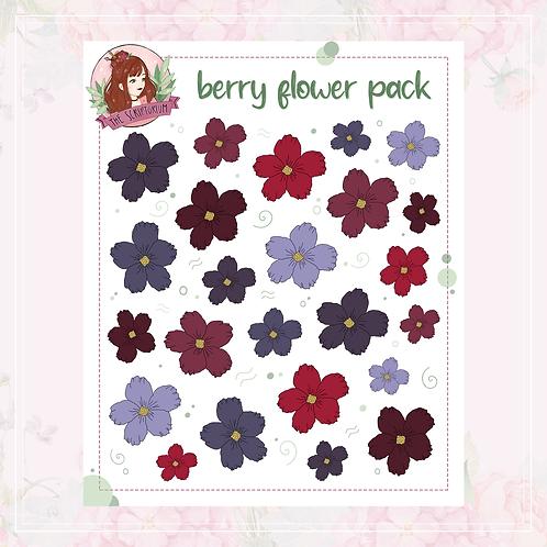 flower sticker pack | berry