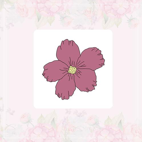 single vinyl sticker   bright flowers