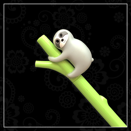 sloth gel pen | grey