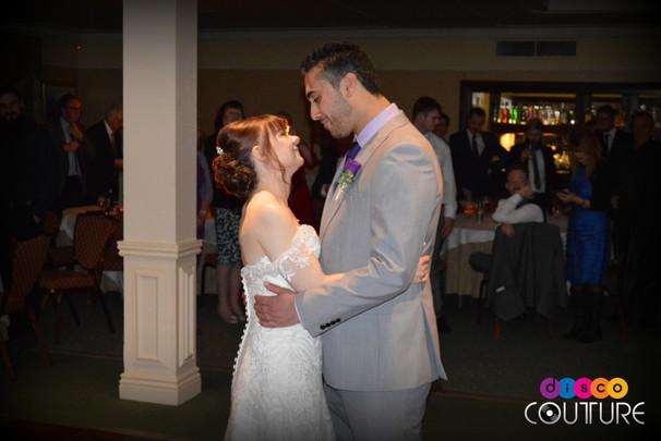 Loving couple enjoy first dance